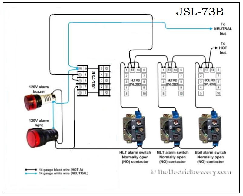 auber jsl73b beer timer wiring
