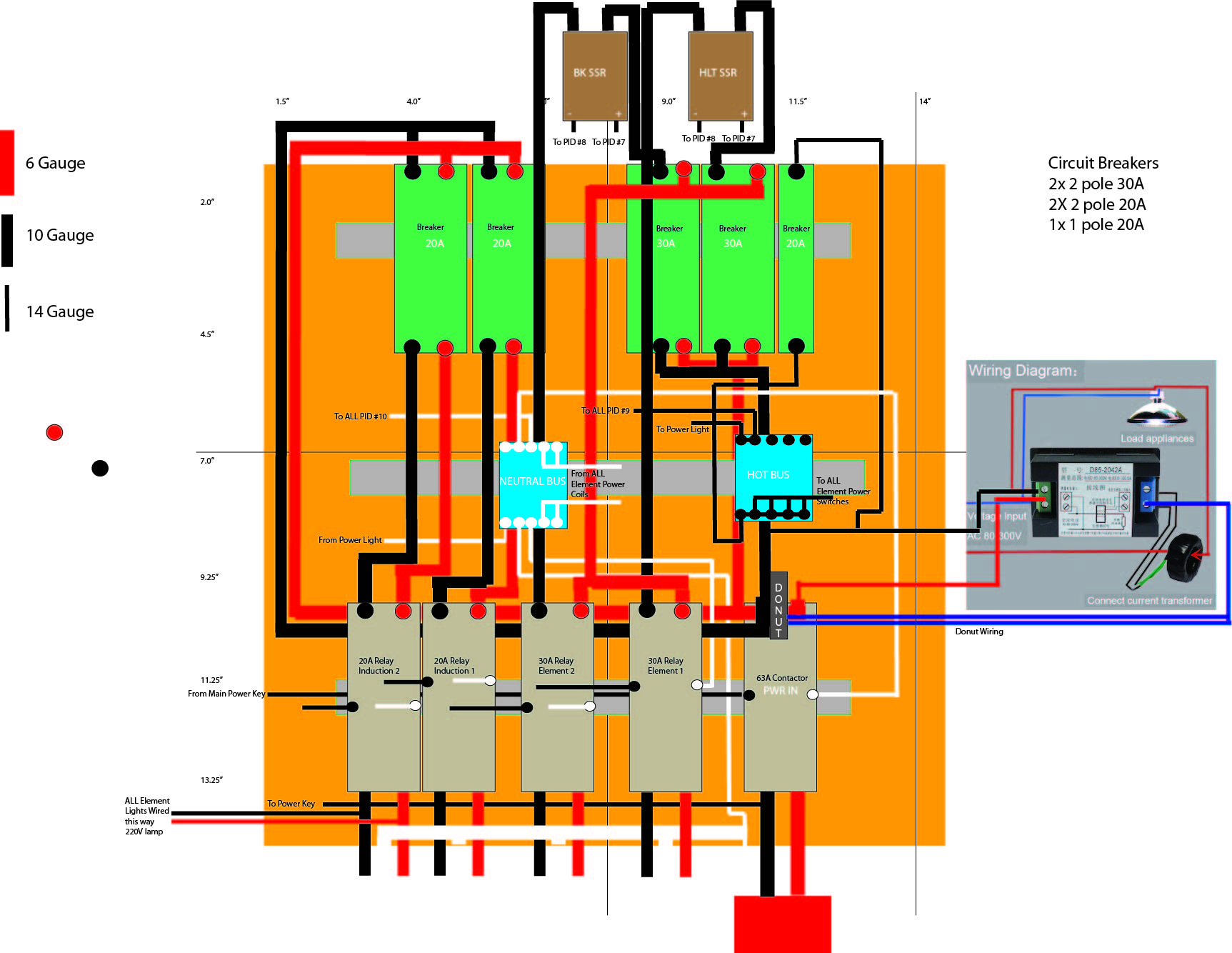 combination volt ammeters controlpanel internals jpg