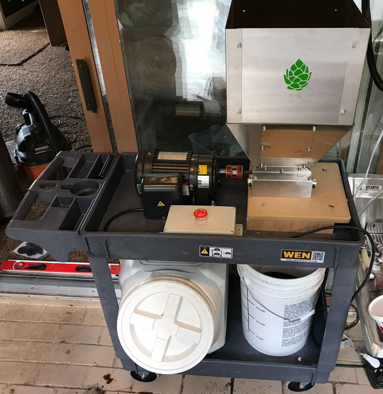 Motorized Grain Mill Cart