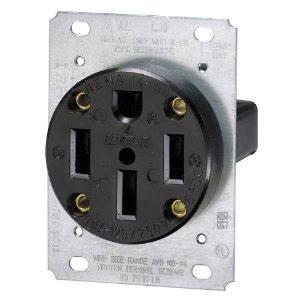... standard 4 slot north american 240v ac 50 amp nema 14 50r stove outlet