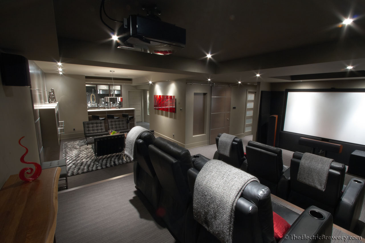 Kals basement BreweryBarHome Theatre build 20