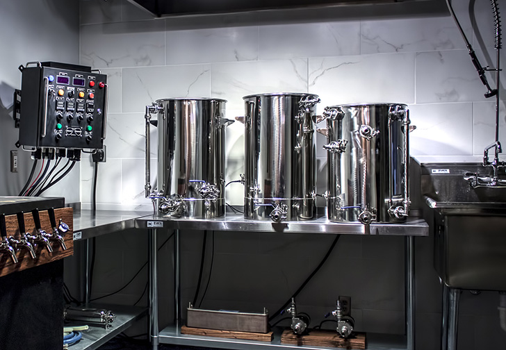 once we decided to install a basement brewery in our home i put in