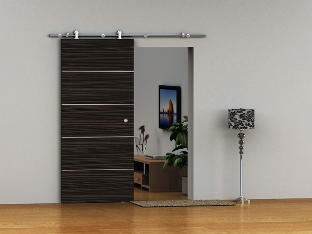 Contemporary Sliding Doors We 39 Re Putting A Sliding Barn Door Style Sliding Door At The Bottom Of