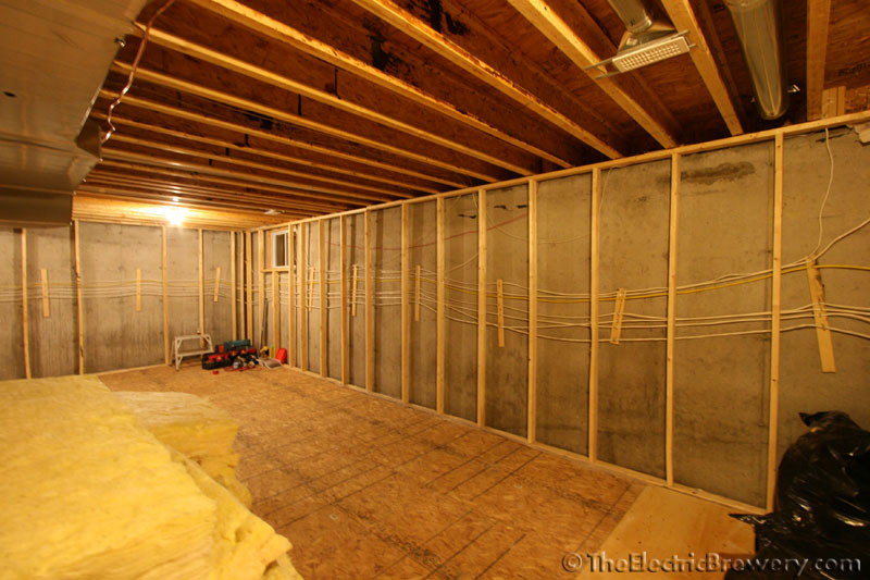 the builder pre insulates with r12 fiberglass to about a foot from the floor but were going to be going with closed cell spray foam - 7 Foot Basement Ceiling