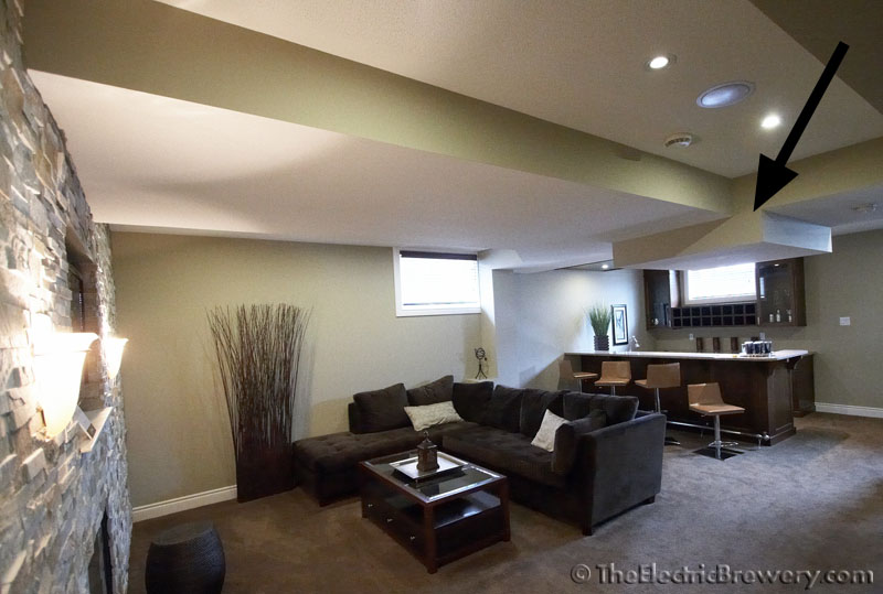 i find that big 4x4 foot square drop in the middle of the room looks really odd remove an extra foot for a home theater riser and it just will not work - 7 Foot Basement Ceiling