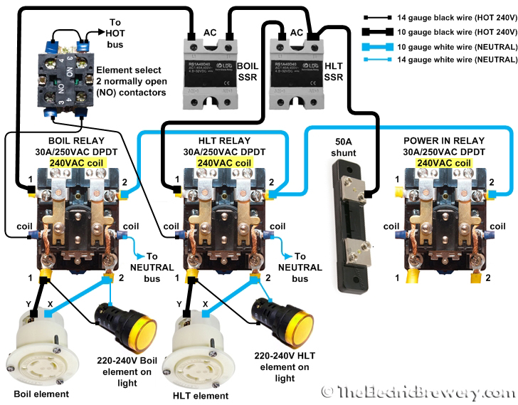 elements240V 230v relay wiring diagram diagram wiring diagrams for diy car 240v relay wiring diagram at crackthecode.co