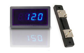 Digital Amp Meter Panel : 3 digit blue led digital panel amp meter 50 amp ac with shunt 5v dc