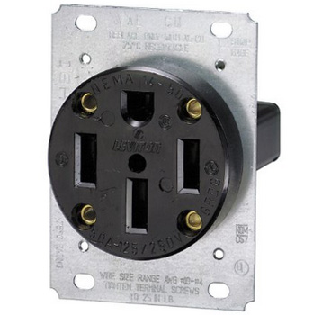 50a 250v 4 wire stove receptacle outlet nema 14 50r