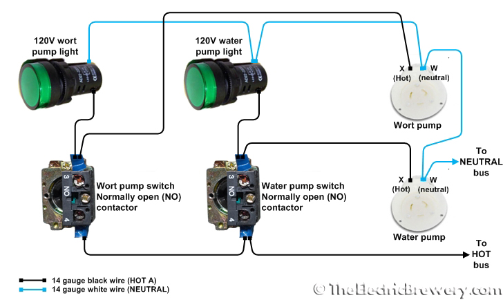 Control And Relay Panel Wiring Diagram : Rv water pump switch with relay wiring diagram