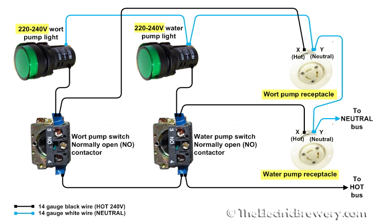 pumps240V faq adapting for 220 240v countries no nc contactor wiring diagram at crackthecode.co